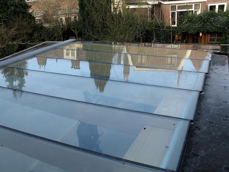 Uitbreiding met bamboe van michel brands - Glazen dak dak glijdende ...